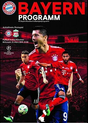 Programme Bayern Germany v Liverpool 2019 Champions League. Size A4. Unofficial