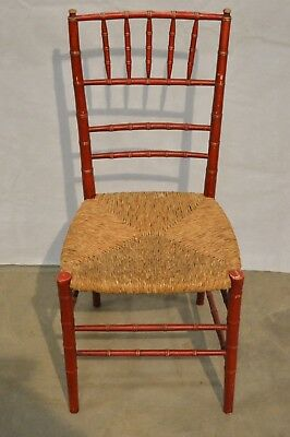Vintage Antique Wood Woven Farmhouse Chair Shaker Style NICE