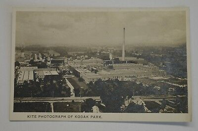 Vintage Velox-Real Photo Post Card- Kite Photograph of Kodak Park RPPC -New York
