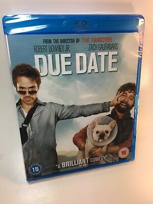 Due Date (Blu-ray Disc, 2011) Brand New Sealed UK Region Free