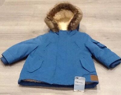 Mothercare Baby Boys Warm Winter Coat New With Tags Age 3-6 Months