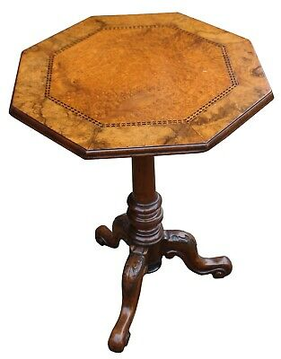 A Superb Quality Victorian Octagonal Burr Walnut Wine Table