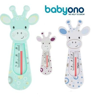 Baby Bath Thermometer Giraffe Floating mint white blue Cute Safety Babyono new