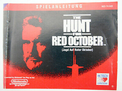 The Hunt for Red October | Anleitung Handbuch Manual | Nintendo NES | NES-7H-NOE