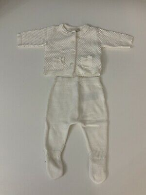 Mayoral Baby Girls Outfit, Set, Newborn, White, Age 0 Months, Immaculate