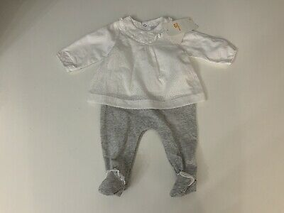 Mayoral Baby Girls Outfit, Set, White, Age 1-2 Months, NEW BNWTS