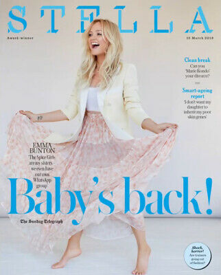 UK Stella Magazine March 2019: SPICE GIRLS - EMMA BUNTON COVER AND FEATURE