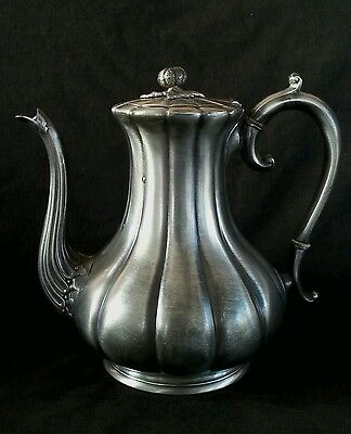 Antique Atkin Brothers Sheffield pewter coffee pot
