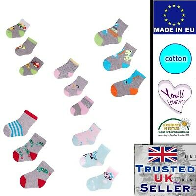 Baby Boy Girl Cotton Socks 3 pairs set many colours comfortable socks