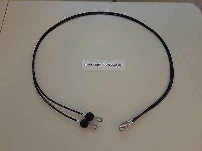 """Bowflex 59/"""" Replacement Cables Includes 2 Each 59 Inch Long Black Cables New"""