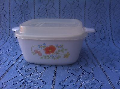 Corning Ware Corelle Wildflower Petit Pan Dish With Snap Tight  Lid 2 3/4 Cup