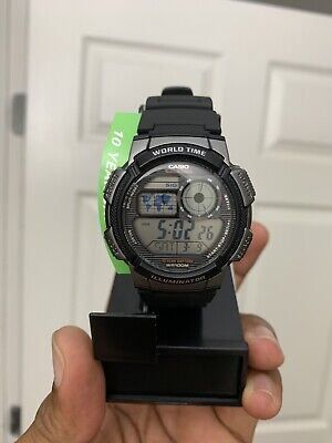 Casio AE1000W-1BV, Digital Watch, Chronograph, 5 Alarms, 10 Year Battery