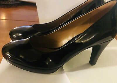 5cb82477230 Clarks Artisan Delsie Bliss Women s Black Leather High Heels Pumps Size 8.5M