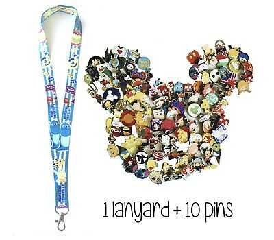 Disney Pins (10) + Monsters University Lanyard + Pin Trading Guide - New!