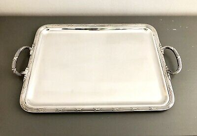Christofle  Silver Plated Crossed Ribbons Serving Tray