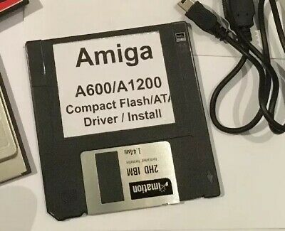 AMIGA PCMCIA ADF Transfer kit with 2gb Compact Flash USB reader for A1200 &  A600