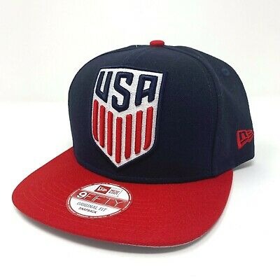 b4268867e63 USA United States of America Soccer Logo 9Fifty New Era Adjustable Hat Cap  - New