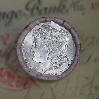 Silver Dollar Roll $20 Morgan Peace 1885 & 1899 End Coins Mixed Date Grades
