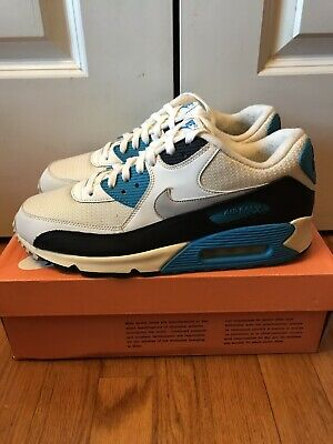 on sale a4480 f8fd3 Nike Air Max 90 OG Sail Neutral Grey- Laser Blue- Black Sz 11.5