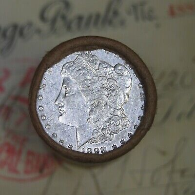 Silver Dollar Roll $20 Morgan Peace 1888 & 1898 End Coins Mixed Date Grades