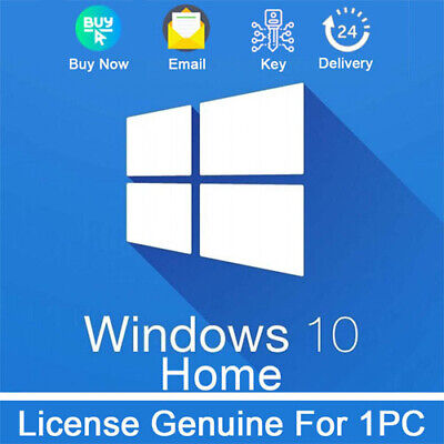 Microsoft Windows 10 Home key 32/64 Bit Genuine License Key Product Activation