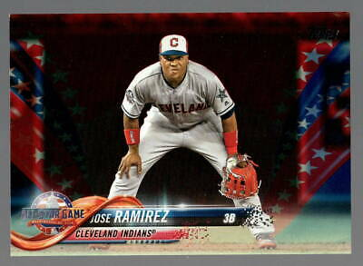 e9c31ded 2018 Topps Update Jose Ramirez RC Red White Blue Parallel Stars Stripes #  16/76