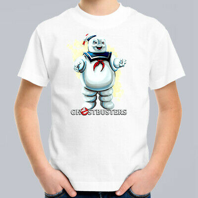 Ghostbusters Mr Stay Puft Kids T-Shirt, Children Retro Funny Movie Tee Size 0-16