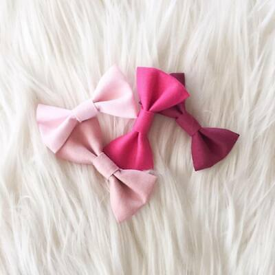 3 x Headband Pack Flower Bow Lace Fabric Dusty Pink Ivory Nude Nylon Baby Girl