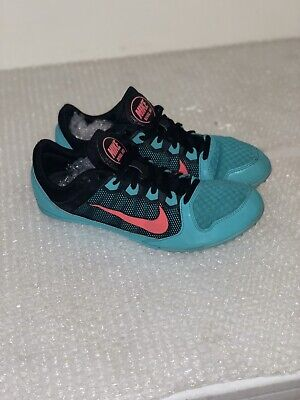 meet 31cb6 7934d NIKE Zoom Rival MD Track Shoes WOMEN S Size 11 Black Green 615982-030  65