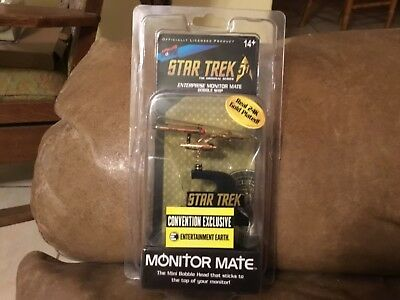 STAR TREK MONITOR Mate ENTERPRISE BOBBLE SHIP TOS EE Exclusive New