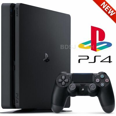 New Sony PlayStation 4 Slim 1TB or 2TB Black Gaming Console - PS4