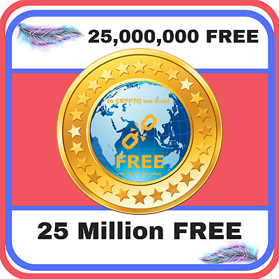 25,000,000 FREE coin (25 Million FREE) CRYPTO MINING-CONTRACT, Crypto Currency