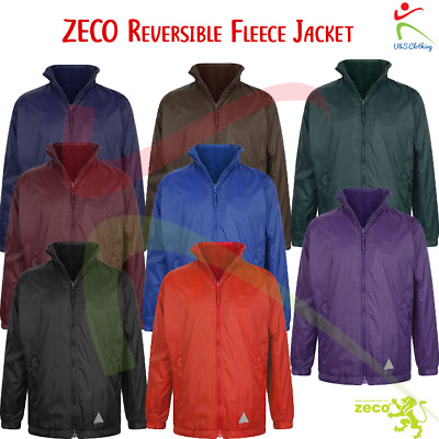 ZECO Unisex Kids Adults Reversible Nylon Fleece Jacket Outer Coat School Wear