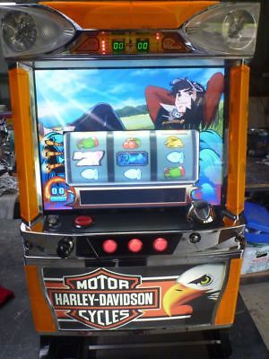 Harley davidson arcade skill test coin machine. suit man cave, slot collector,