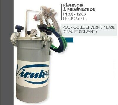 Reservoir a pression inox par pulverisation pistolet colle et vernis VIRUTEX