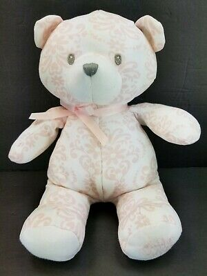 9b5be224db3 Baby Gund Pink and White Damask Scroll Little Me 10