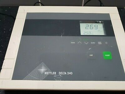 METTLER TOLEDO DELTA 340 PH/mV meter Controller with DC Power Adapter