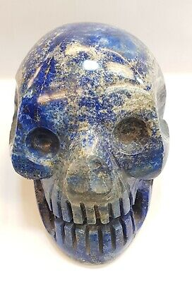 Wonderful Ancient Carving Afghanistan Lapis Stone Antique Beautiful Old Skull