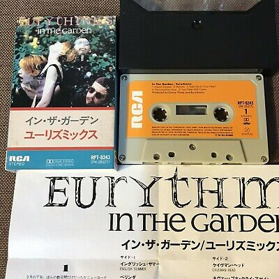 EURYTHMICS In The Garden JAPAN CASSETTE RPT-8243 w/SLIP CASE+INSERT Annie Lennox