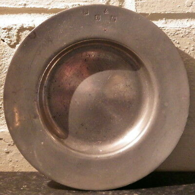 19TH CENTURY Victorian Small PEWTER DISH