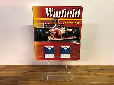 Vintage Retro Winfield Racing Team '99 Tobacco Store Advertising Display Sign