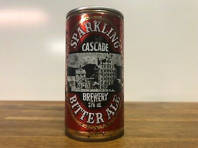 Vintage Cascade Brewery Sparkling Bitter Ale Straight Steel 375ml Beer Can