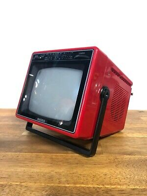 "Vintage Masuda MA-6201 Red 5"" Inch Black And White TV"