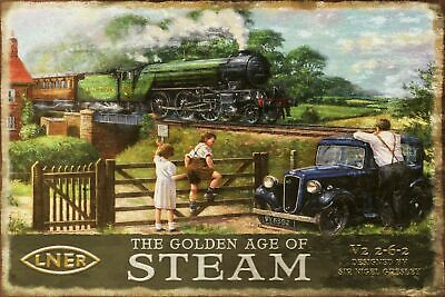 LNER Steam Railway Train Advert Vintage Retro style Metal Sign, man cave, shed