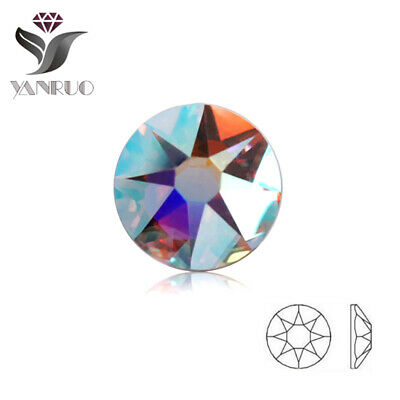 2088 Hot fix Stones 16 Facets Loose Strass Rinestones for Clothing Crystal AB