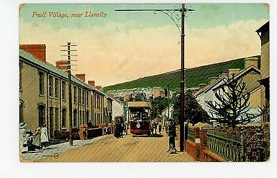 Pwll Village—Antique WALES Rare Llanelly Carmarthenshire Welsh Trolley 1910s