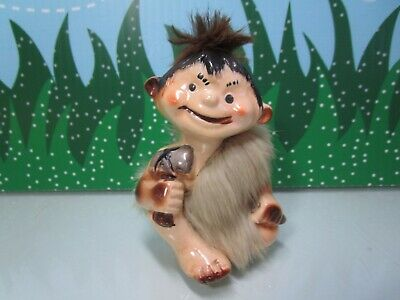"1960's VINTAGE CAVEMAN - 3 1/2"" AncoTroll Doll - MADE IN JAPAN"