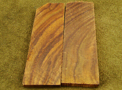 "5"" Pair of Burl Rose Wood Scales Knife Handle Making Blank Bush Crafts (600-92"