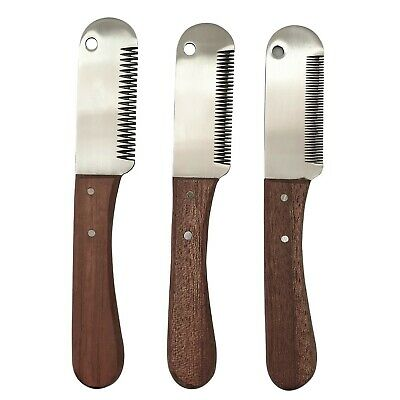3 x Pet Stripping Knifes / Hand Tool Grooming Set - EASYTRIMLONDON