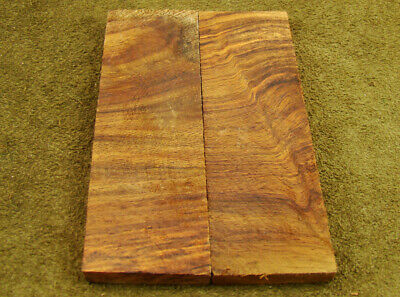 "5"" Pair of Burl Rose Wood Scales Knife Handle Making Blank Bush Crafts (600-86"